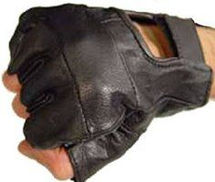 Leather Fingerless Gloves (Medium) by CRAZY Lizard