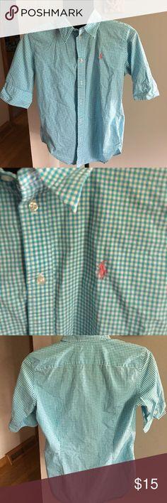 Ralph Lauren Sport 3/4 sleeve button down size 10 Ralph Lauren Sport 3/4 sleeve button down size 10 Ralph Lauren Sport Tops Button Down Shirts