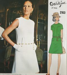 Vintage Vogue Couturier Design 2163 Sewing Pattern  By Irene Galitzine of Italy at Eight Mile Vintage on Etsy