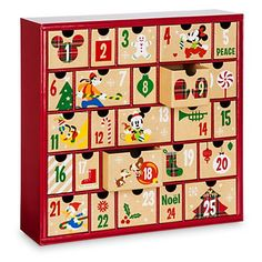 Disney Store Mickey & Friends Share the Magic Advent Calendar Gift Drawers New Disney Christmas Decorations, Disney World Christmas, Disney Ornaments, All Things Christmas, Christmas Time, Christmas Crafts, Disney Holidays, Holiday Time, Christmas 2016