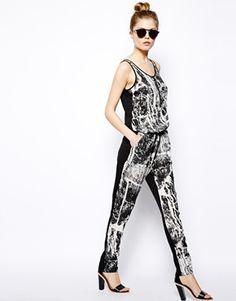 Vila Splash Print Jumpsuit