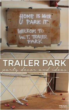 Home is where you park it. Trailer Park Party Decor and Ideas. This Redneck bash is a tragedy - recipes, decor, tablescapes, costumes and Redneck Costume, Redneck Party, Redneck Gifts, Mystery Dinner, Mystery Parties, Diy Birthday Gifts For Sister, Teen Birthday, Birthday Bash, Birthday Parties