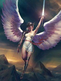 Angel, Eli Maffei on ArtStation at https://www.artstation.com/artwork/angel-a4c27c7e-e9f2-4b1d-94ba-68478eca8185