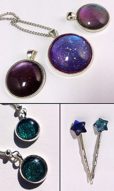 Make This: A Pendant Made With Your Favorite Nail Polish. Making your own jewelry with nail polish and findings is super duper simple.