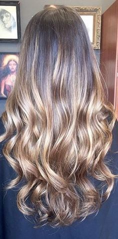Balayage - the new and now of hair coloring. Brunette balayage highlights by Nickole Canestrale.