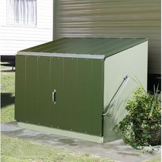 W x 3 ft. D Metal Lean-To Storage Shed Portable Storage Sheds, Steel Storage Sheds, Plastic Storage Sheds, Shed Storage, Built In Storage, Generator Shed, Garbage Shed, Stainless Steel Bolts