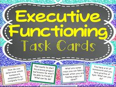 Executive Functioning Task Cards & Discussion Starters