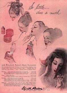 so little does so much, 1953, Elisabeth Arden, Vogue
