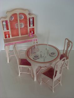 Barbie - Barbie Dining Room Set, 1985 (it was so fragile, but I loved playing with it!)