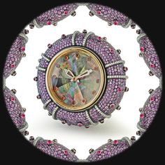 Taffin pink sapphire, purple sapphire, ruby, diamond, and 18K rose-gold sea urchin clock, price upon requestTaffin, NYC, 212.421.6222
