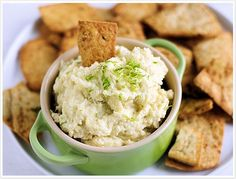 Hearts of Palm Dip. Simple & delicious, 3 ingredient dip that can be whipped up in less than 10 minutes.