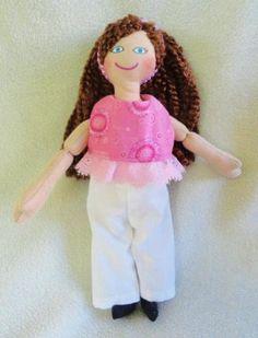 Brunette Dress Up Dolls - Handmade Toys by JoellesDolls for $25.00