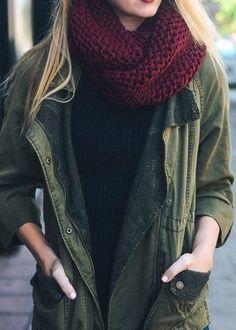 Warm and Toasty Chunky Knit Infinity Scarf