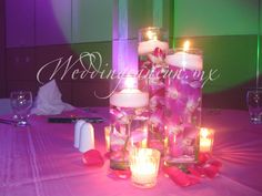 #fucsia #tropical #romantic #centerpiece #flower #decor #destinationwedding #weddingcancun by #latinasia