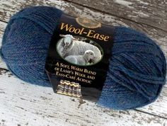 NEW Lion Brand Wool Ease Yarn Lambs Wool Super Bulky Worsted #5 Blue Mist 3 oz