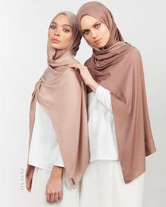 INAYAH | Exude femininity in soft muted hues. Nude 2-Way Viscose Blend Hijab Mushroom 2-Way Viscose Blend Hijab www.inayah.co