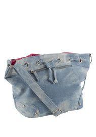 F&F Denim Mini Duffle Bag #feeltheheat