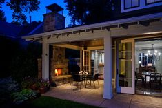 An outdoor trellis over your patio would be nice.  Bon Ton Residence - craftsman - Patio - Other Metro - Locati Architects