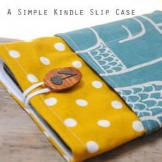 Sew a Kindle Cover  #sewing #diy