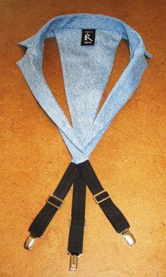 Denim collar racerback suspenders ltd by rojasclothing on Etsy, $68.00