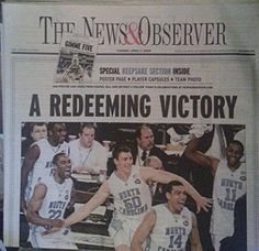 """4/7/2009 The News and Observer """"A Redeeming Victory"""" North Carolina beats Michigan State NCAA Championship-SPECIAL KEEPSAKE SECTION INCLUDED-GIMME FIVE"""
