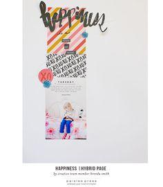 Happiness Scrapbook Layout by creative team member Brenda Smith using 4x6 Minimalist Templates + Eternal Sunshine Digital Kit by paislee press