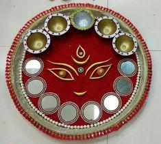Arti Thali Decoration, Diwali Decoration Items, Art N Craft, Craft Work, Diy Crafts For Gifts, Arts And Crafts, Diya Rangoli, Diwali Diy, Engagement Decorations