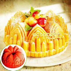 Castillo esculpido catedral Bundt Pan para hornear la torta / 8.6 pulgadas molde gran pastel