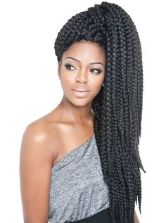 Box Braids Hairstyles With Shaved Sides