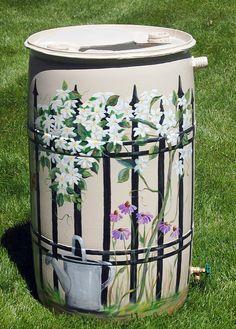 Painted Rain Barrel                                                                                                                                                     More