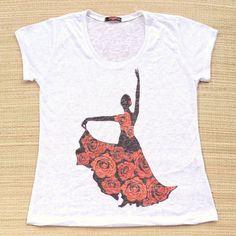 Baila com leveza para a vida ser uma dança.  Camiseta feminina apenas R$ 3990. Na compra de duas o frete é grátis   Qual a estampa que você mais gosta? Conheça todas disponíveis pelo nosso whatsapp: 13982166299  #modaetnica #danca #flamenco