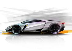 Lamborghini Leon concept sketch by Ardhyaska Amy