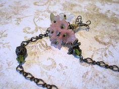 Bouquet Necklace by WistfulWhimsyDesigns on Etsy, $18.00