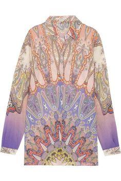 Etro - Paisley-print Silk-chiffon Shirt - Pink - IT38