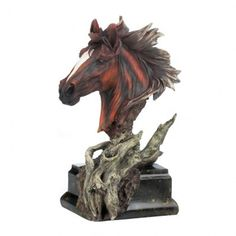 I really think this is a beautiful piece.  I have a sister that is a horse lover and has a couple of her own.  I think she would really appreciate something like this in her home.  I like the bronze color of the horse's head.