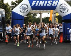 Forest Park is the track for many St. Louis runners, and hosts walk/run events like this St. Louis Track Club race.