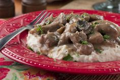 Slow Cooker Beef Tips | MrFood.com (from mom. 1 small onion, m/b more wine, more meat - used chuck roast. 3.5 hrs on stovetop, simmered)