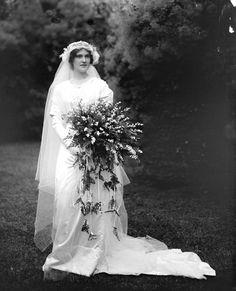 Anne on her 1912 wedding day Charlottesville, Virginia