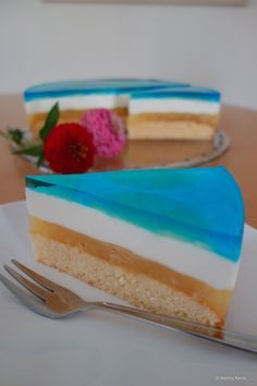 Blue Hawaii Torte oder auch Swimmingpool-Torte