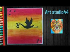 Hello friends, In this video I show you how to draw bird scenery with Oil Pastels for kids-step by step-beginners MATERIALS REQUIRED Paper Oil Pastel Washi t. Oil Pastel Drawings, Bird Drawings, Oil Pastels, Moose Art, Scenery, Make It Yourself, Youtube, Painting, Animals