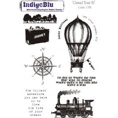 Indigoblu red rubber stamps
