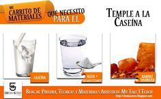 Si queremos trabajar con un medio pictórico más duro y áspero, podemos probar un Temple a la Caseína. Aquí va el carrito con los ingredientes básicos y en el enlace, la receta. #mytaleiteach http://chemasenra.blogspot.com.es/2012/07/temple-la-caseina.html Síguenos en Facebook https://www.facebook.com/ChemaSenraArtStudio