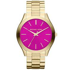นาฬิกาข้อมือ Michael Kors MK3264 Michael Kors Runway Pink Dial Gold Tone Stainless Steel
