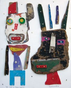 We Ain't in Kansas Any More~David Larwill. His distinctive style evolved… Human Figures, Found Object Art, Art Brut, Assemblages, Arts Ed, Assemblage Art, Aboriginal Art, Outsider Art, Recycled Art