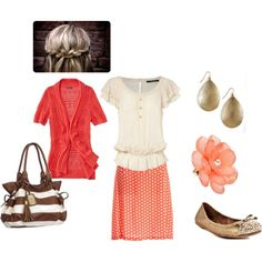 Coral Outfit, created by mistyleboard on Polyvore