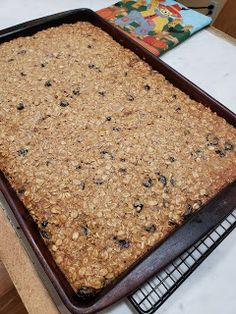 In a little bit I will be taking these Oatmeal Hermit Bars to the volunteers at Hillcrest Platte County Thrift Shop. Oatmeal Raisin Bars, Baked Oatmeal, Oatmeal Cookie Recipes, Oatmeal Cookies, Jelly Roll Pan, Dried Cranberries, How To Make Cookies, Stick Of Butter, Cookie Bars