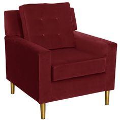 Skyline Furniture Arm Chair in Velvet Berry