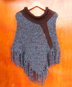 Poncho tejido con palillos (Poncho a dos agujas) / #knit #poncho #knitted #poncho #needles #wear by Suhyza