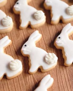 One of the many highlights of the dessert table: bunny-shaped sugar cookies.