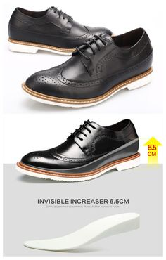 c370813cd Increase height 6.5CM 2.56 Inch instanlty and invisibly Upper Material  Cow  Leather Lining